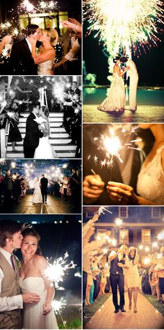 Sparklers & fireworks at a wedding.... So Magical !!