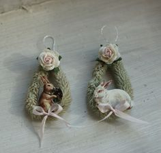 Mini shabby chic Easter decorations