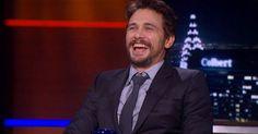 James Franco Tried to Get Stephen Colbert to Break Character; It Didn't Work