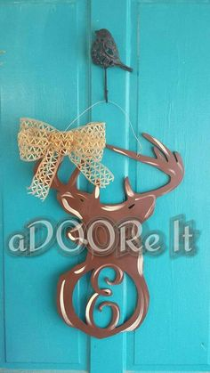 Deer with letter cut out