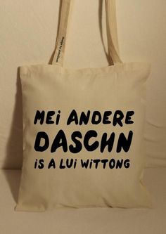 Baumwolltasche Jutebeutel Tasche Bag lange Henkel von NoNameNeedle auf DaWanda.com