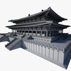 Xuanzheng Palace Single Building 1 Model available on Turbo Squid, the world's leading provider of digital models for visualization, films, television, and games. Architecture Antique, Ancient Chinese Architecture, China Architecture, Japanese Buildings, Surface Modeling, Grand Mosque, Environment Design, Chinese Culture, Oriental
