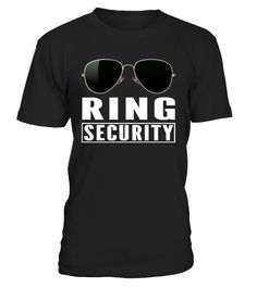 Delight your guests with this cute and funny boys Ring Security T-shirt featuring sunglasses graphic and Ring Security text. This stylish Ring Security shirt is perfect for your ring bearer to wear to the rehearsal dinner or reception party.   This wedding party member has one of the most important jobs, securing the bling! It's a great gift to make him feel important, as well as for priceless pictures with the bride and groom. An awesome way to ask a child to be a part of the wedd...