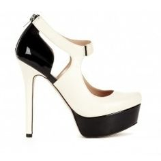 Nature Beauty Black and White Heels 4932 |Black Heels|