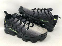 6a12e6b3da46 Details about Nike Mens Air Vapormax Plus Black Volt White Neon 95 Grey  924453-009 Size 12