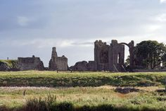 The ruined abbey on Lindisfarne - known as Holy Island. A tidal island on the north east coast of England, the home of Saints Aidan & Cuthbert, and seat of culture in Anglo-Saxon England.