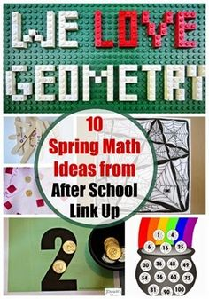 Celebrate Pi Day with these 10 math ideas for kids. Hands on geometry ideas. elementary school free math printables, and more.