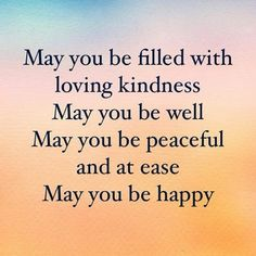 Edblog Word: May You Be Filled With Loving Kindness