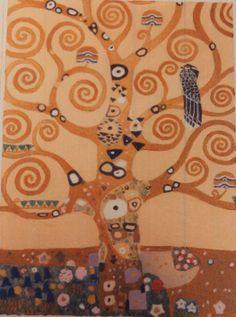 """Gustav Klimt, L'albero della vita (particolare per il """"Fregio Stoclet""""), 1905-09"""