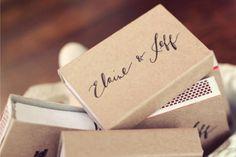 DIY custom matchbooks for your big day.