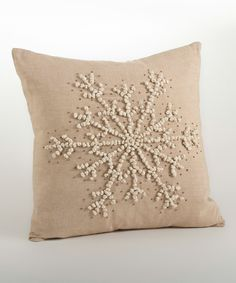Saro Hand-Knotted Snowflake Throw Pillow | zulily