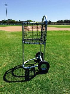 Fortress Baseball Cart With WheelsBaseball Ball Cart Baseball Caddy Cart