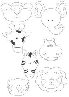 Felt Animal Templates. Cute!