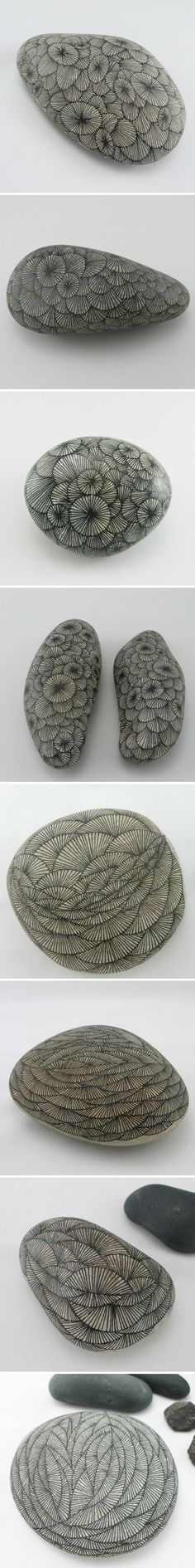 zentangle stones