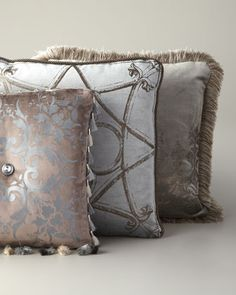 Hand-Painted Pillows by ETOFFE MAKARA at Neiman Marcus.