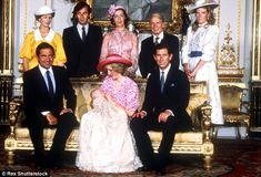 The christening of Princess Diana and Prince Charles's son Prince William...