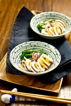Boiled Squid with Miso Vinaigrette from @Nami | Just One Cookbook