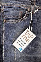 NFC Product Tag - Add a NFC tag to merchandise so the consumer can tap with their NFC enabled phone to display information regarding the product.