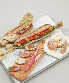 Deli sandwich's in 1/12 scale  By NUNU's House