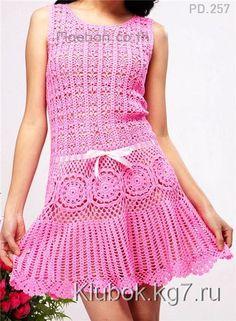 Платье летнее крючком | Клубок