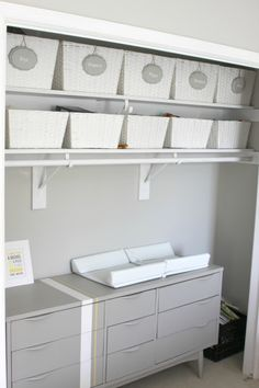 Our Pinteresting Family: Nursery Closet