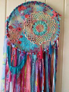 BOHO Dreamcatcher textile wall art hippie gypsy by HippieWild