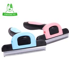 KIMHOME Pet Grooming Tool Dog Cat Hair Removal Comb Brush Detachable Hair Shedding Trimming  Wholesale