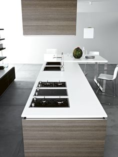 Fitted kitchen ARIEL - COMPOSITION 5 by Cesar Arredamenti design Gian Vittorio Plazzogna