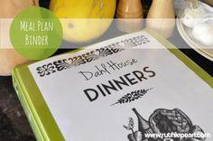 Meal Planning folder