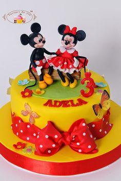 Tort cu Mickey si Minnie pentru Adela