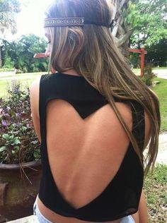 Backless shirt. #love