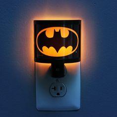 Batman Night Light- It's cute. And it's Batman. You just can't beat Batman. Baby Batman, Batman Room, Baby Superhero, Superhero Room, Batman Chair, Superman, Batman Bathroom, Boy Room, Kids Room