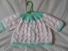 Hand Knitted Baby Matinee Coat & Hat Set by littledazzler on Etsy