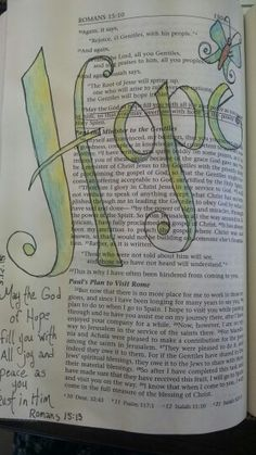 Romans 15:13.......................Bible journaling
