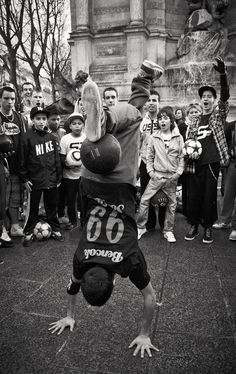 Street soccer in Paris