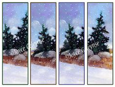 Printable Bookmarks Winter Landscape Snow by FreshAirPrintables, $3.00