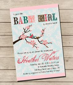 PRINTABLE  Nesting Bird  Baby Shower Invitation  by UrbanFrontiers, $12.00