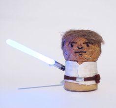 Champagne Cork Luke Skywalker - complete with light saber!