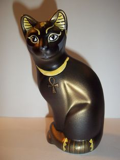 Fenton+Glass+Bastet+Egyptian+Stylized+Black+Cat+GSE+Kim+Barley+LTD+ED+#1+of+14