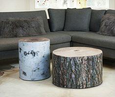 Krone Hanssen Wood Stubbe Poufs |