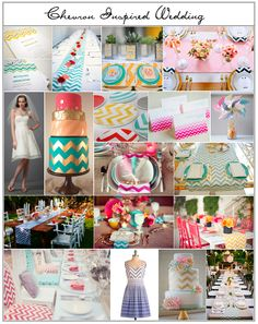 Like the teal chevron table runner.