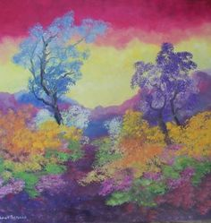 Buy Blue and Violet, Oil painting by Louis Pretorius on Artfinder. Africa Painting, Oil Painting On Canvas, Canvas Art, Original Art, Original Paintings, Landscape Paintings, Landscapes, Impressionism Art, Fiber Art