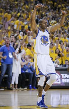 Golden State Warriors' Andre Iguodala reacts to a call in the second period during Game 5 of The NBA Finals between the Golden State Warriors and Cleveland Cavaliers at Oracle Arena on Sunday, June 14, 2015 in Oakland, Calif. Photo: Carlos Avila Gonzalez, The Chronicle