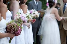different style bouquets