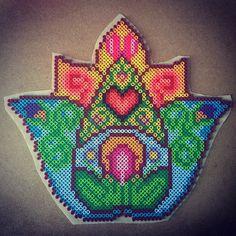 Hamsa hand perler beads by capriciousarts