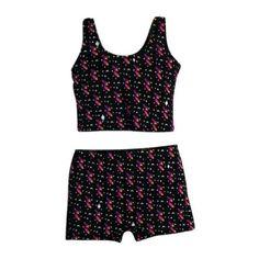 7bef91b8e Little Girls Black Purple Rockets Print Tankini Top Shorts 2 Pc Swimsuit 5