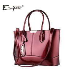 2017 ESUFEIR Fashion Women Bag PU Leather Casual Women Handbag Brand Bag Simple Women Shoulder Bag Paint Women messenger Bag //Price: $74.25 & FREE Shipping //     #womanworld