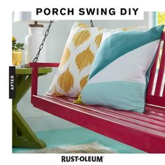 Are you looking for fun things to do when you're bored? Get back into the swing of things and add an uplifting pop of color to your front porch, back patio, kitchen, living room, bathroom, or bedroom with Rust-Oleum 2X Ultra Cover Spray Paint! Update furniture on a budget with this easy and cheap DIY project.