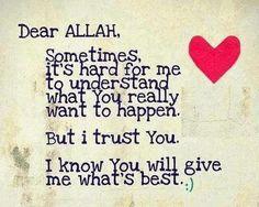 Dear ALLAH. . .