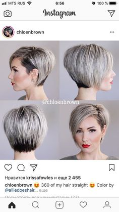 Love this cut and she does great videos on how to style short hair. 2019 stylish short bob haircuts that balance your face shape Short Bob Hairstyles, Trendy Hairstyles, Haircut Short, Bob Haircuts, Short Bob With Undercut, Pixie Haircut For Round Faces, Short Undercut, Asymmetrical Hairstyles, Undercut Hairstyles